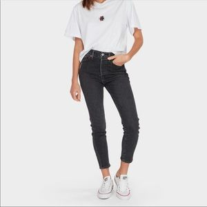 Levi wedgie fit skinny high rise black jeans